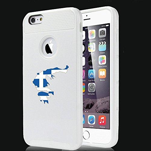 Apple iPhone SE Shockproof Impact Hard Soft Case Cover Greece Greek Flag...