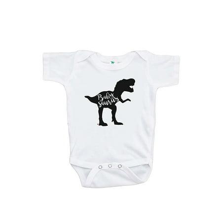 7 ate 9 Apparel Baby's Dinosaur Babysaurus Onepiece - 0-3 Month Onepiece