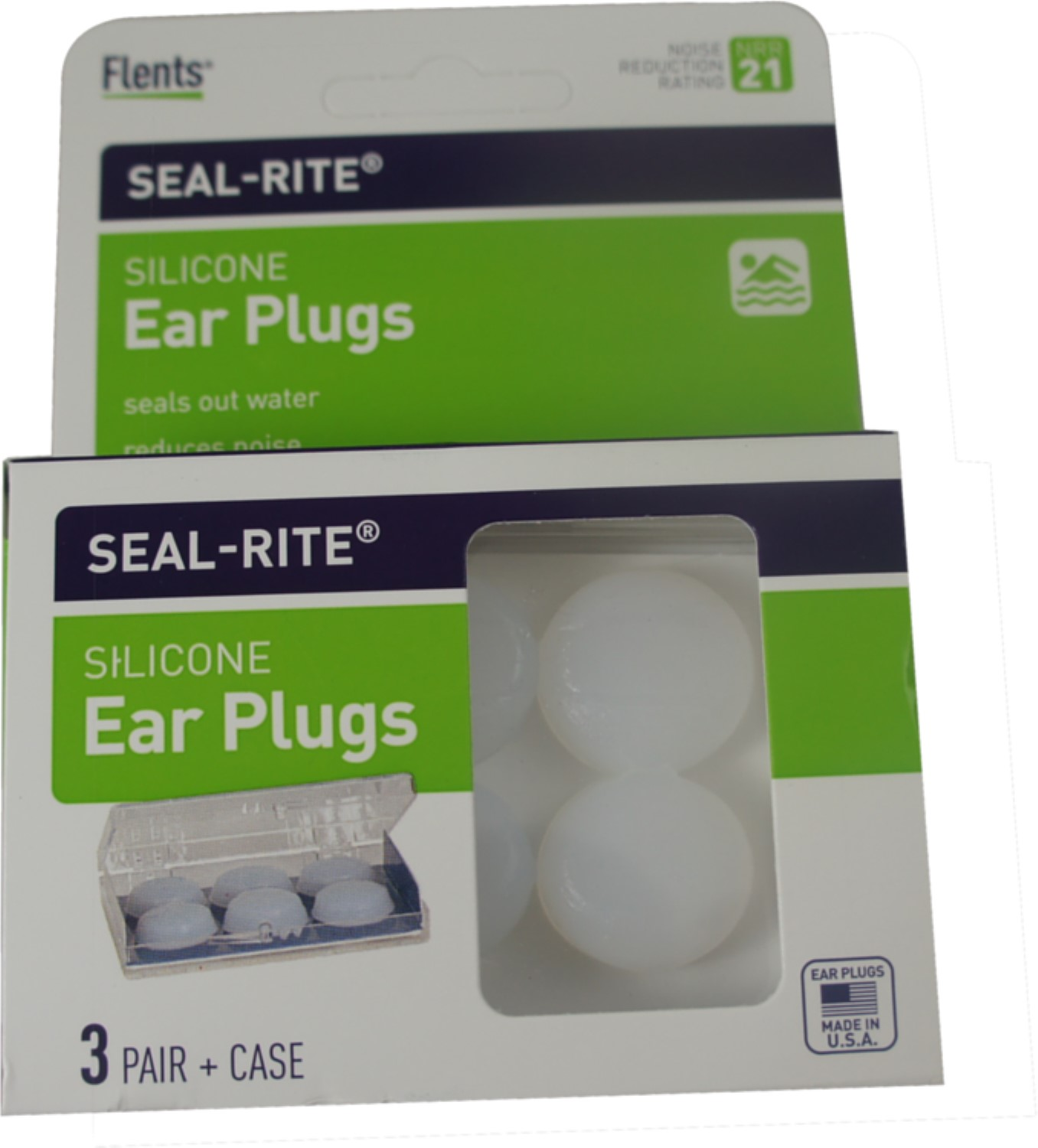 Flents Seal-Rite Silicone Ear Plugs, 3 Pairs (Pack of 3)