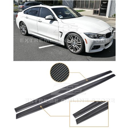 Performance Style CARBON FIBER Rocker Panel Side Skirts Extension Lip For 14-Up BMW F36 4-Series Gran Coupe 4Dr Hatchback 2014 2015 2016 2017 14 15 16 17