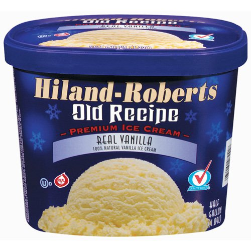 Hiland-Roberts Old Recipe Real Vanilla Ice Cream, .5 gal