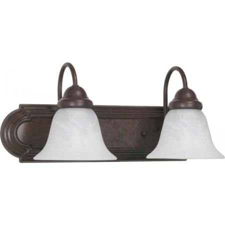 Nuvo Ballerina - 2 Light - 18 inch - Vanity - w/ Alabaster Glass Bell Shades