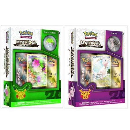 - Pokemon TCG Mew and Shaymin Mythical Collection Box Bundle. 1 of Each Mythical Collection, including 2 Booster Packs from the Pokemon Generations 20th Anniversary Set and Rare Promo Card