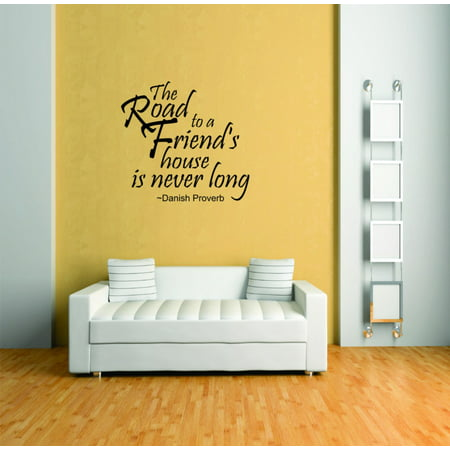 Do It Yourself Wall Decal Sticker The Road To A Friends House Living Room Size 20x20