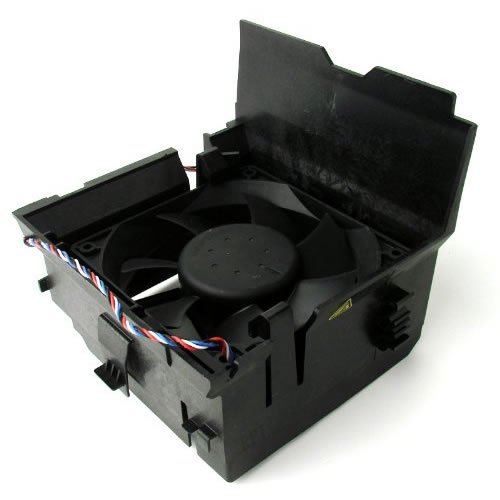 Dell Cooling Fan and Shroud Assembly - RR527
