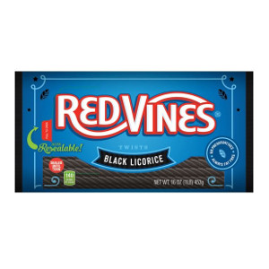 Red Vines Twists Black Licorice Case/Ldb, 16 Ounce (12 Pack)