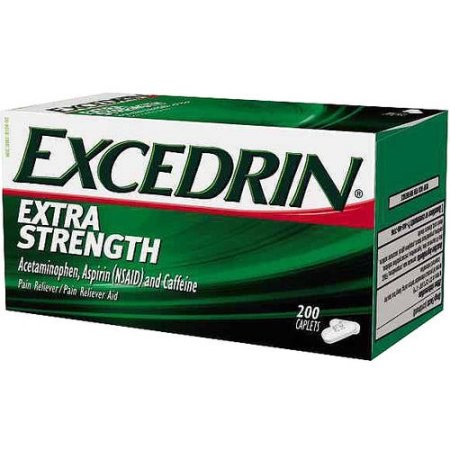 Excedrin Extra Strength Pain Reliever Caplets, 200 Ct