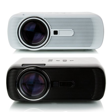 Hd Mini Projector 2300Lumen Portable Hd 3D Led Projector Home Cinema Theater Vga Usb Av Hdmi Black