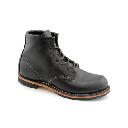 (Red Wing Heritage 9014 6-Inch Beckman Round Black Men's Boots 09014)