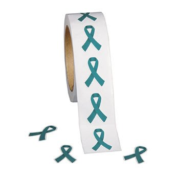 Teal Awareness Ribbon Stickers - Stickers & Labels & Novelty Stickers By Oriental Trading Company