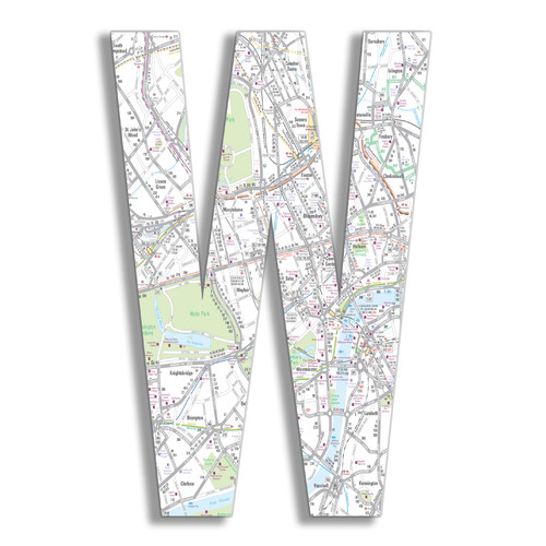 Stupell Industries Oversized London Map Letter Hanging Initials