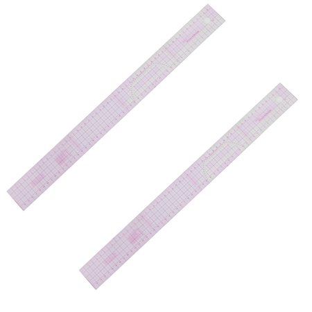 Purple Rule (Unique Bargains 2 Pcs Plastic 21.5  Graph Ruler Educational Students Stationery Measuring Tool Pink )