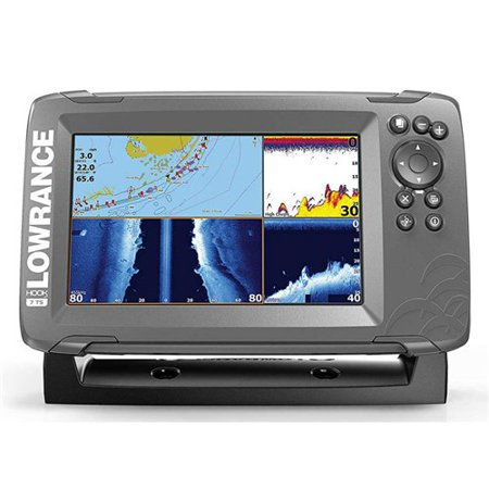 Lowrance HOOK2-7 Fishfinder w/ SolarMAX Display & TripleShot Transducer
