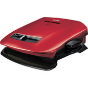 George Foreman 84-sq in 5 Serving, Removable-Plate Grill, Red, GRP2841R