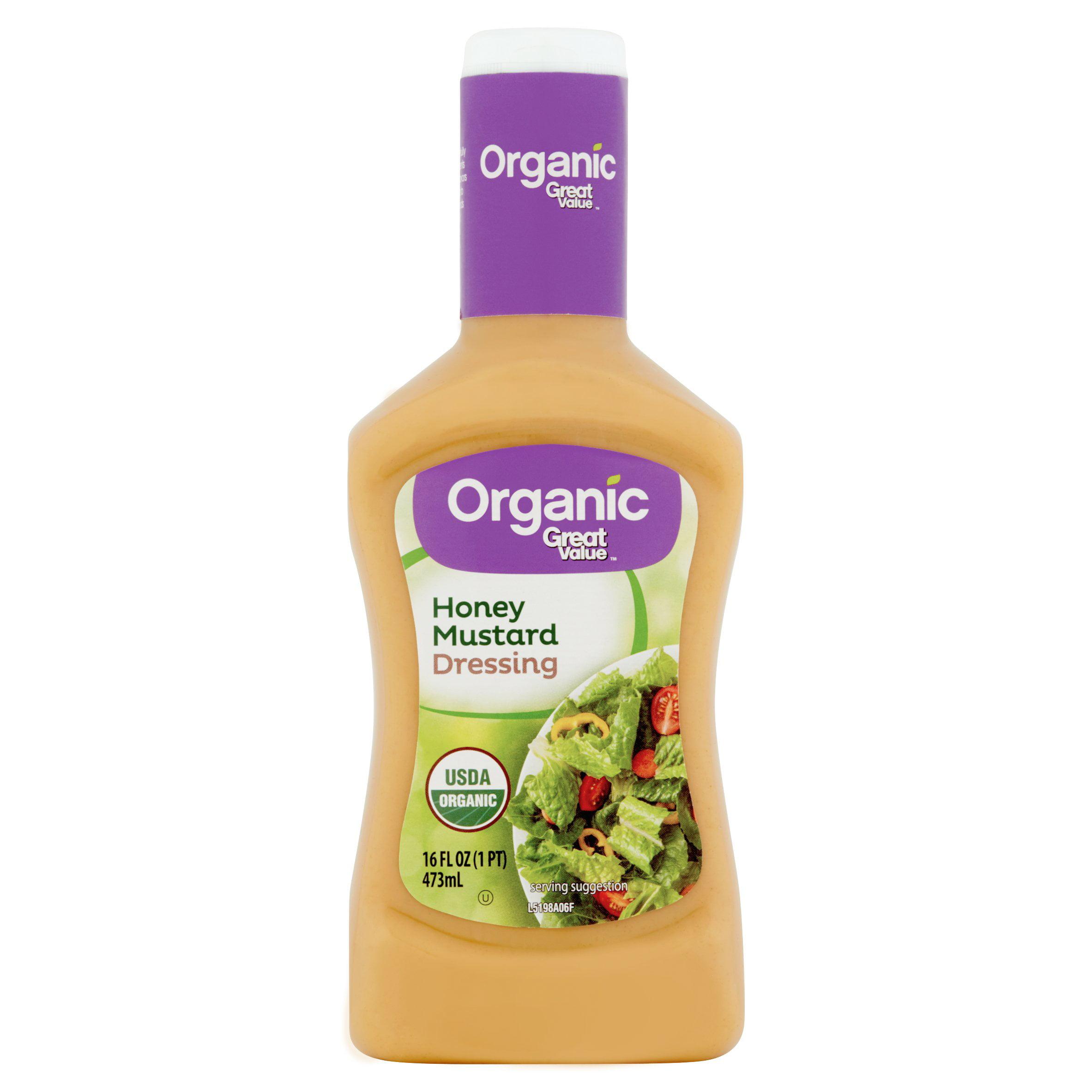 Great Value Organic Honey Mustard Salad Dressing, 16 Oz. by Great Value Organic