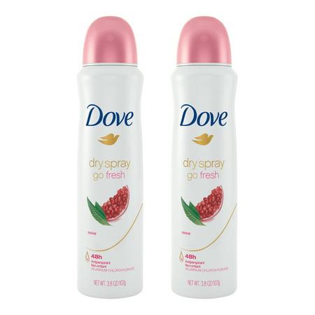 (2 Pack) Dove go fresh Dry Spray Antiperspirant Deodorant Revive 3.8 (Dome Bundle)