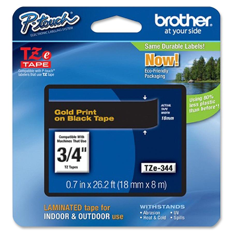 Brother, VCT15706, P-Touch TZe Flat Surface Laminated Tape, 1 Each, Gold