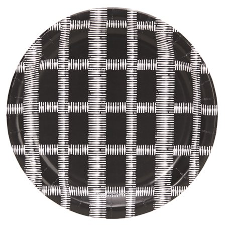 Halloween Black And White Grid 9Inches Dinner Plates (8 - Grown Up Halloween Dinner