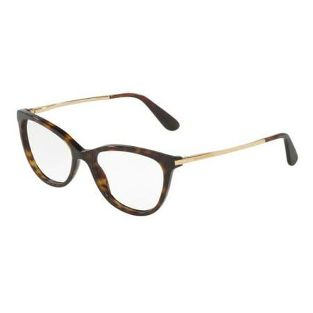 DOLCE & GABBANA Eyeglasses DG3258 502 Havana (Dolce Gabbana Eyewear Frames)