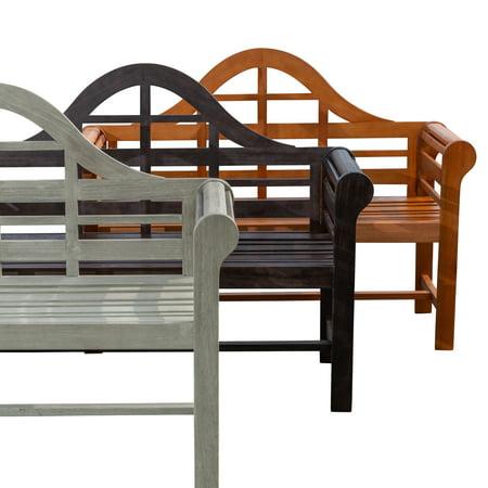 Outdoor Eucalyptus (DTY Outdoor Living Broadmoor Garden Bench Eucalyptus Patio Furniture Collection, Natural Oil)