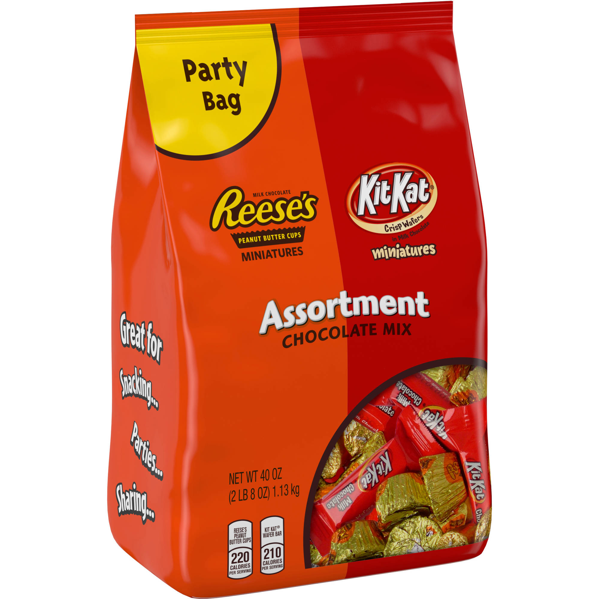 Reese's Kit Kat Assortment Peanut Butter Cups, 2.5 lb