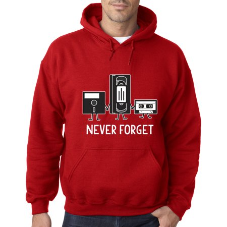 New Way 467 - Hoodie Floppy Disk VHS Tape Cassette Player Never Forget Sweatshirt