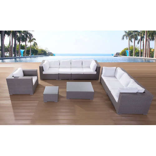 Beliani Maestro 5 Piece Deep Seating Group with Cushion