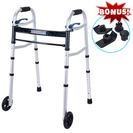 Health Line Compact Trigger Release 350 lbs Folding Walker with 5