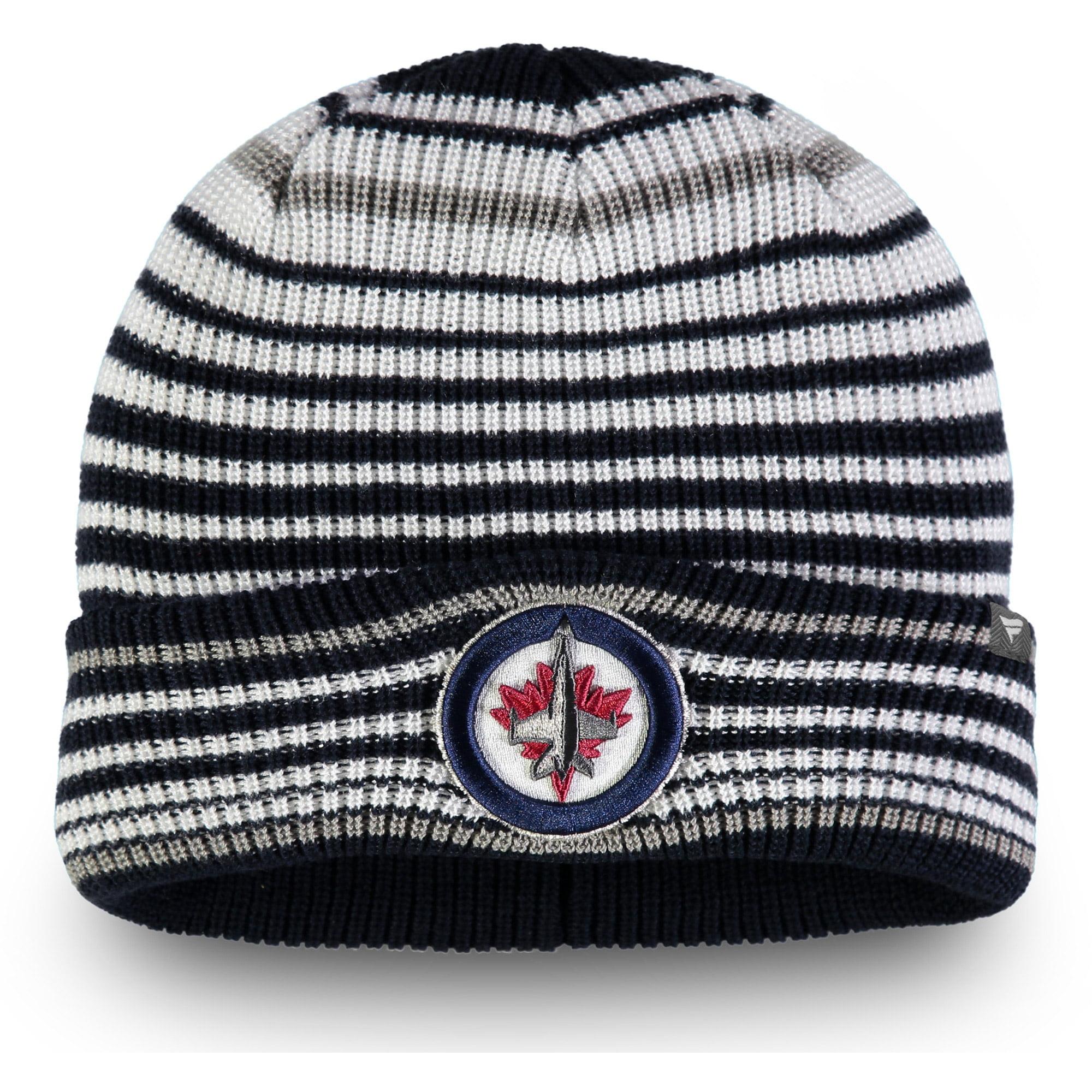 Winnipeg Jets Fanatics Branded Iconic Layer Core Cuffed Knit Hat - Navy - OSFA