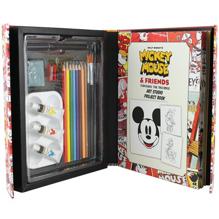 Disney Mickey Mouse & Friends Art Studio Project Book Paints Brushes Pencils - Halloween Paint Art Projects