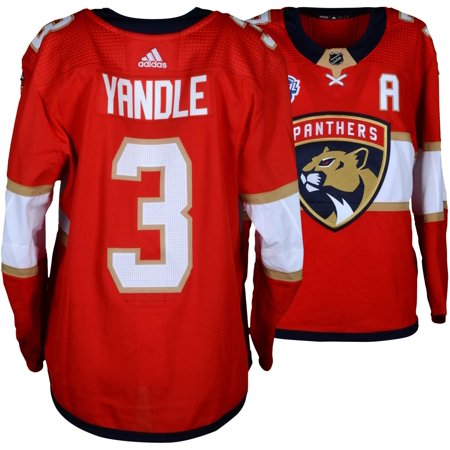 best sneakers 8d45c d3ec8 Keith Yandle Florida Panthers Game-Used #3 Red Jersey from the 2018 NHL  Global Series Game vs. Winnipeg Jets on November 1, 2018 - Size 56 -  Fanatics ...