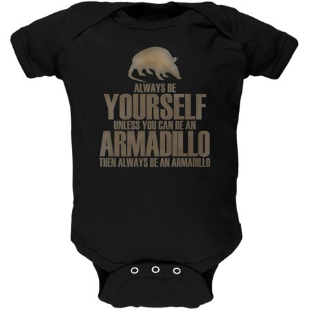 Always Be Yourself Armadillo Black Soft Baby One Piece - image 1 of 1