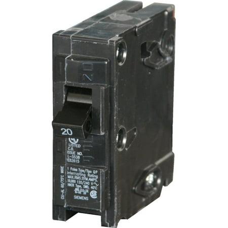 Siemens - (2 Pack) Q120 - 1 Pole 20 Amp Plug-in Circuit Breaker (Siemens 80 Amp Breaker)