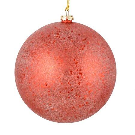 Vickerman N184403 8 in. Red Glitter Clear Ball Ornament, 2 per Bag - Pack of 6 - image 1 de 1