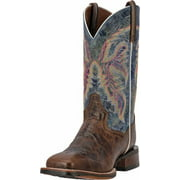 """Dan Post Western Boots Womens 11"""" Lava Leather Cowboy Brown DP3843"""