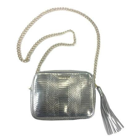 Victoria's Secret Fashion Show Animal Print Silver Gold Crossbody Bag Purse (Victorias Secret Workout Bag)