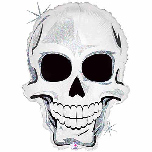 """Scary Skull Shaped Balloon, 25"""""""