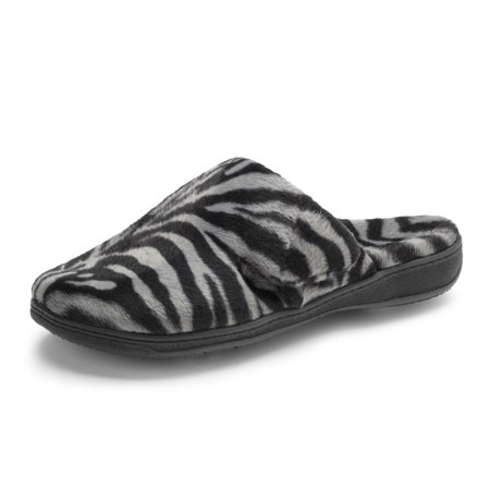 a490be7e239f8 Vionic - Orthaheel Dark Grey Zebra Gemma Slipper Women s 10 - Walmart.com