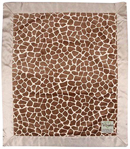 My Blankee Giraffe Minky Baby Blanket, 30' X 35', Caramel