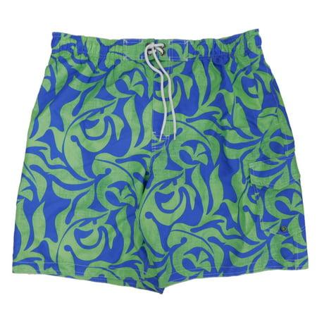 Sonoma - Sonoma Mens Green Blue Tropical Floral Board Shorts Swim Trunks XL  - Walmart.com 8e1f2ee07048