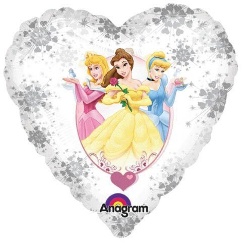 "Disney Princess Balloon 18"" Heart Shape Birthday Party Valentine's Day"