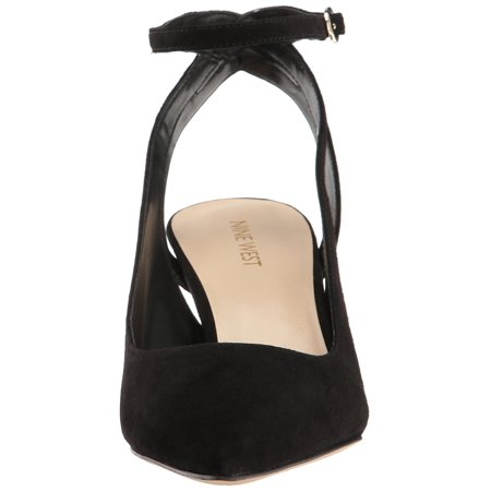 6d5a7e934110 Nine West Womens Shawn Leather Pointed Toe Ankle Wrap Classic ...