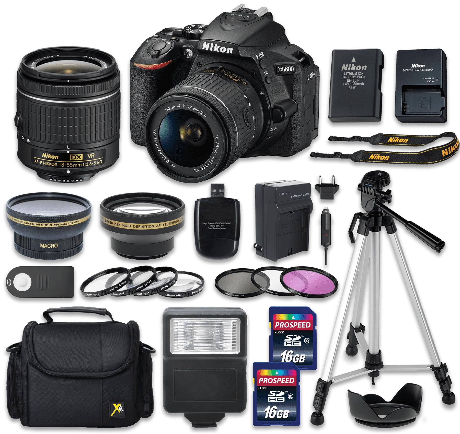 D5600 DX-format Digital SLR Body with 18-55mm VR Lens (Vi...