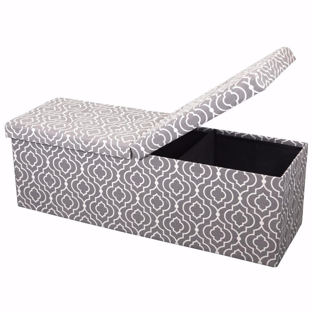 "Otto & Ben 45"" Smart Lift Top Ottoman Bench"
