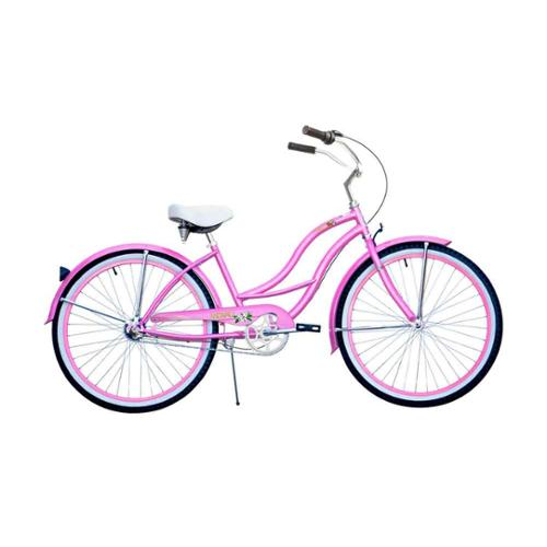 Stainless Steel Beach Cruiser in Pink