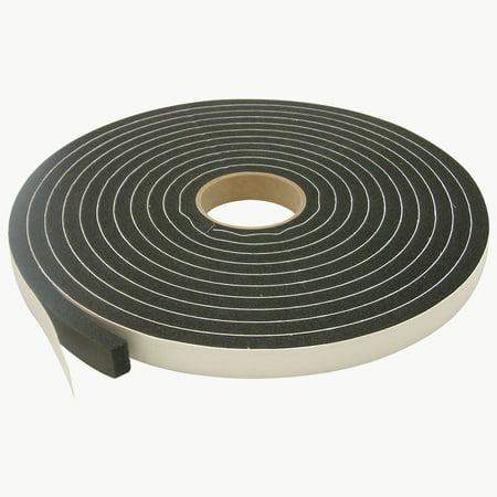 Pvc Film Tape (JVCC SCF-01 Single Coated PVC Foam Tape: 1/2 in. thick x 1 in. x 25 ft. (Black) )