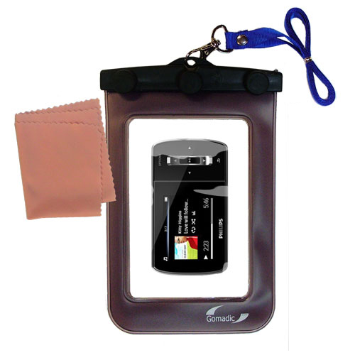 Gomadic Clean and Dry Waterproof Protective Case Suitablefor the Philips GoGear Ariaz to use Underwater