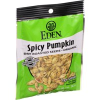 Eden Foods Organic Pumpkin Seeds - Dry Roasted - Spicy - 1 Oz - Pack of 12