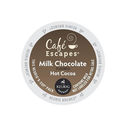 Cafe Escapes Hot Cocoa K-Cups, Milk Chocolate, 96 Count by Cafe Escapes
