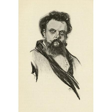Modest Moussorgsky 1839-1881 Russian Composer Portrait By Chase Emerson American Artist 1874-1922 Canvas Art - Ken Welsh Design Pics (12 x 18)